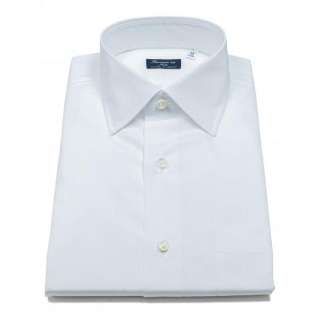 Finamore 1925 Hemd in weiß mit Brusttasche und Kentkragen