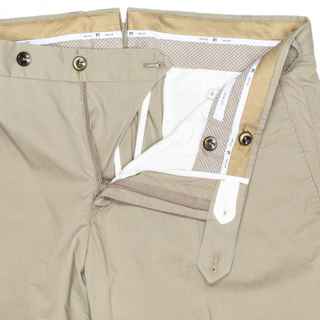 PT01 Chino Slim Fit/Stretch in beige aus dünner Baumwolle