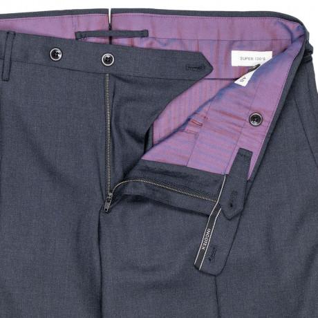 Incotex Kombinationshose Slim Fit in dunkelgrau aus Super 130'S Wolle