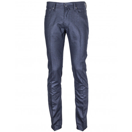 "Jacob Cohen Wolljeans J688 Wool ""Luxury Classic Edition"" in dunkelblau meliert"