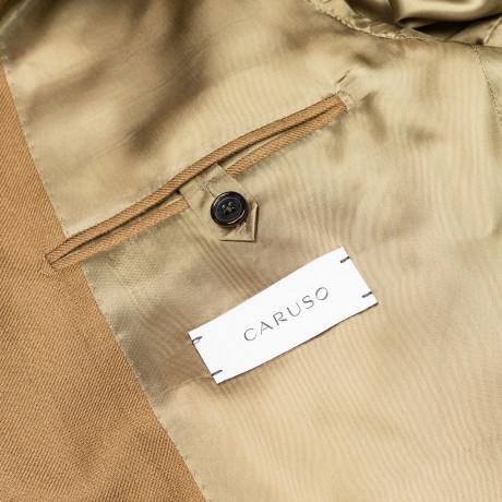 """Caruso Sakko in braun-beige mit aufgesetzten Taschen aus """"Pure Cashmere"""""""
