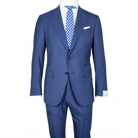 Caruso Anzug in blau aus SUPER 150'S Wolle