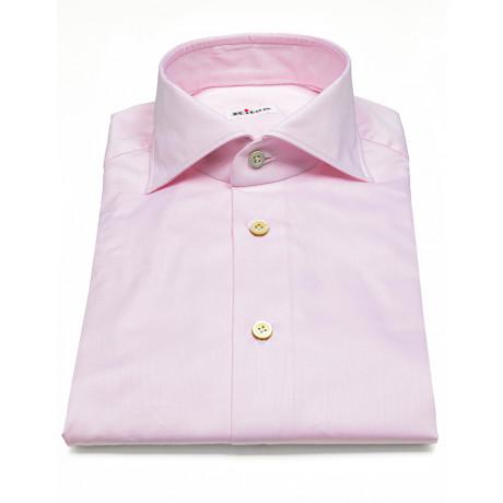 Kiton Hemd in rosa mit Haikragen