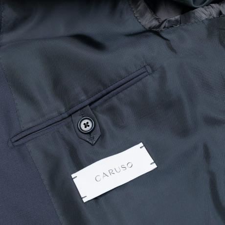 """Caruso Anzug mit Weste in dunkelblau aus """"Connaisseur Superfine 130'S"""" Wolle"""