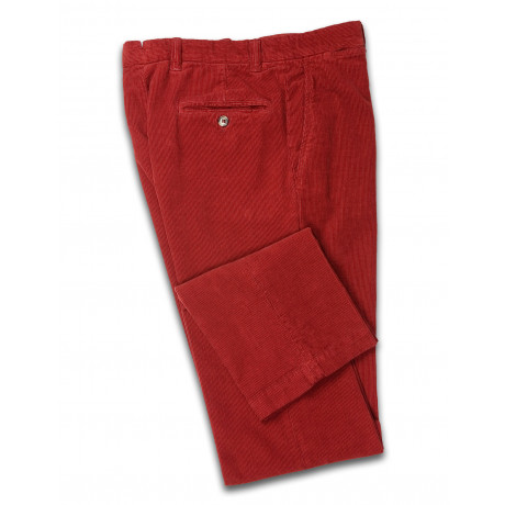 Luciano Barbera washed Cordhose orange