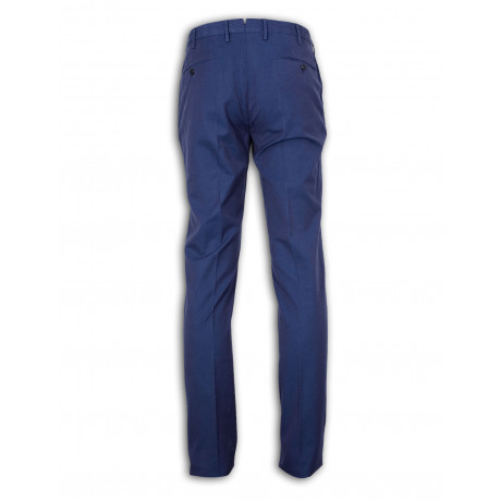 Incotex Chino in blau aus Baumwolle