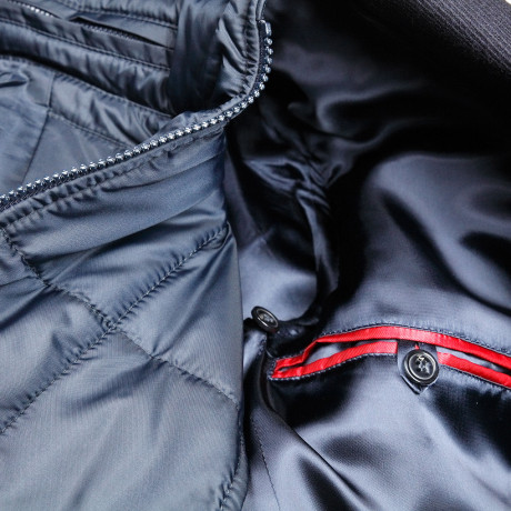 Fay Double Coat Mantel in blau mit Weste aus Wolle