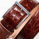 SOBS Herrenmode Krokogürtel in cognac 2