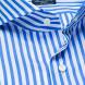 Finamore 1925 Hemd in blau gestreift mit Haikragen 2